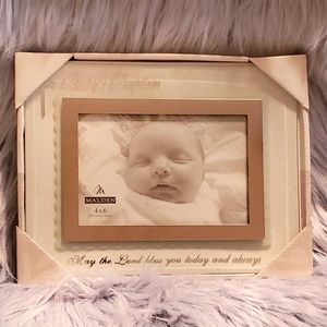 🆕👶 Baby Baptism Picture Frame